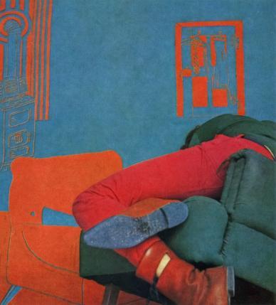 Heide Stolz<br /> Untitled (Self portrait in front of living room), 1965/66<br /> © Estate of Heide Stolz