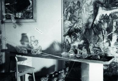 """Ausstellung """"Kunst und Wohnraum"""" in der Galerie Malura, 1961<br /> Foto: Galerie Malura, München<br />"""