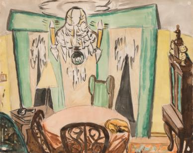Max Beckmann<br /> Das Wohnzimmer des Künstlers in Frankfurt, um 1931<br /> Privatbesitz<br /> © VG Bild-Kunst, Bonn 2017